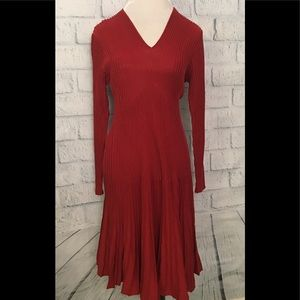Peruvian Connection pleated sweater dress